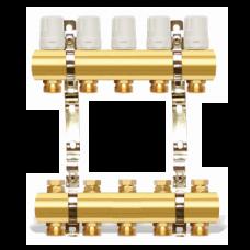 Гребенка для  водяного теплого пола SD 2-12 контуров