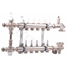 Коллектор для водяного теплого пола  ICMA 2-12 контуров в сборе