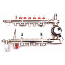 Коллектор для водяного теплого пола SD 2-12 контуров в сборе